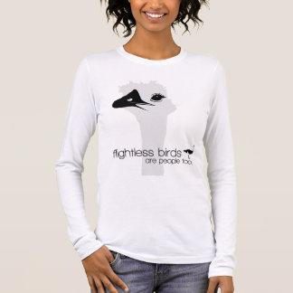 Camiseta Manga Longa Série do pássaro Flightless
