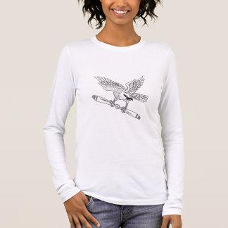 Camiseta Manga Longa Shrike que embreia a lâmina de hélice D preto e