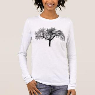 Camiseta Manga Longa silhueta-árvore