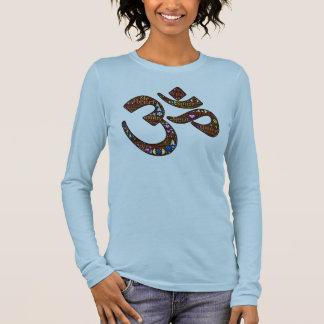 Camiseta Manga Longa Símbolo da meditação, design emoji-decorado