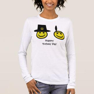 Camiseta Manga Longa Smiley do peregrino