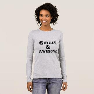 Camiseta Manga Longa Solteiro e luva longa impressionante