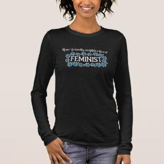 Camiseta Manga Longa Sua feminista amigável da vizinhança