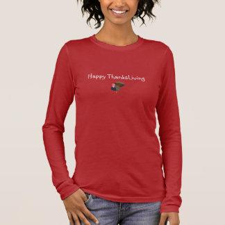 Camiseta Manga Longa T do vegetariano de ThanksLiving