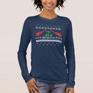 Camiseta Manga Longa T feio do Natal - Ukuleles