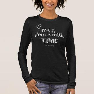 Camiseta Manga Longa T fornecedor da coisa do leite do banco noroeste