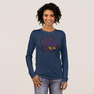 Camiseta Manga Longa T longo da luva da semente de mostarda