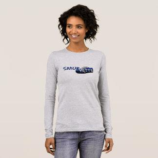 Camiseta Manga Longa T longo da luva de SmurVette