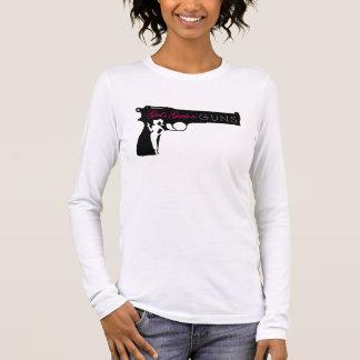 Camiseta Manga Longa T longo das senhoras da luva de GG2G