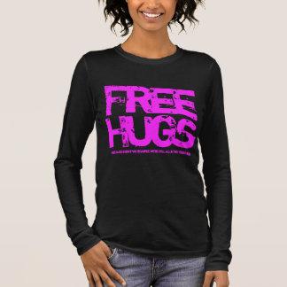 Camiseta Manga Longa T político dos abraços livres para activistas
