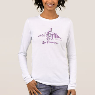 Camiseta Manga Longa T-shirt da skyline de San Francisco