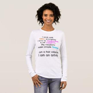 Camiseta Manga Longa T-shirt do Colorist do cabelo
