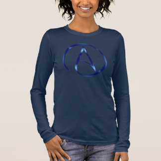 Camiseta Manga Longa T-shirt do jérsei do símbolo do ateísmo