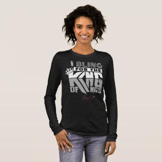 Camiseta Manga Longa T-shirt do rei rei Longo Luva das mulheres