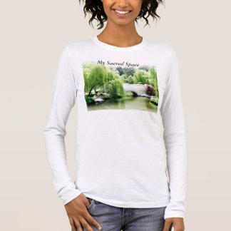Camiseta Manga Longa T-shirt longo da ioga da luva, meu t-shirt sagrado
