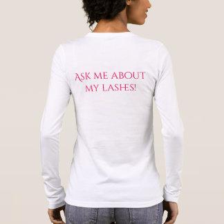 Camiseta Manga Longa T-shirt longo da luva da pestana