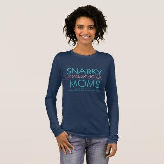 Camiseta Manga Longa T-shirt longo da luva das mães de Snarky