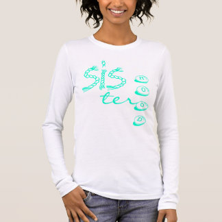 Camiseta Manga Longa T-shirt longo da luva das mulheres da irmandade