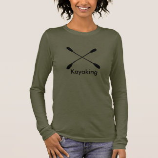 Camiseta Manga Longa T-shirt longo Kayaking da luva do jérsei das pás