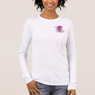 Camiseta Manga Longa T-shirt longo Pinky da luva