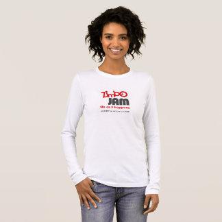 Camiseta Manga Longa T-shirt por muito tempo sleeved do doce de Zimbo
