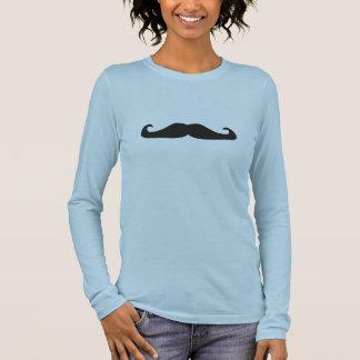 Camiseta Manga Longa T-shirt retro dos hipsteres dos bigodes do