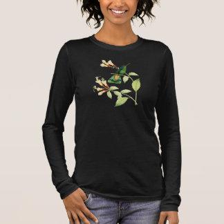 Camiseta Manga Longa T-shirt verde do colibri de Violetear