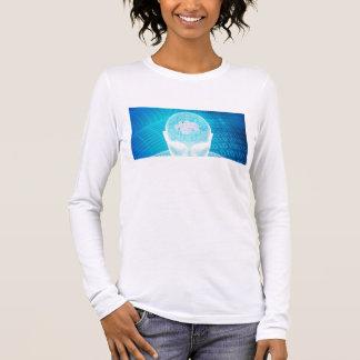 Camiseta Manga Longa Tecnologia futurista com a microplaqueta Soluti do