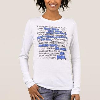 Camiseta Manga Longa Throwdown do voleibol, azul