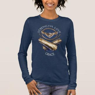 Camiseta Manga Longa Tiara, laço, e braceletes da mulher maravilha