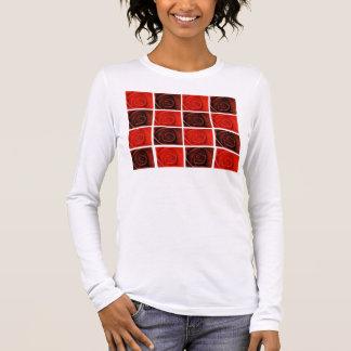 Camiseta Manga Longa Tshirt das rosas vermelhas