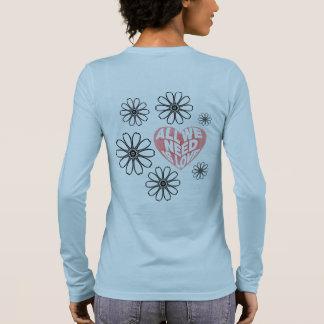 Camiseta Manga Longa Tudo que você precisa é amor