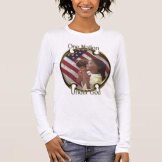Camiseta Manga Longa Uma nação sob o deus