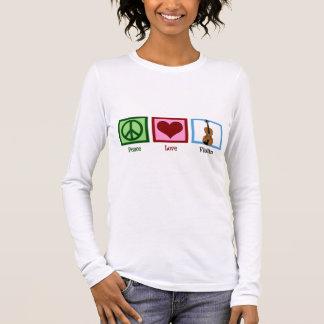 Camiseta Manga Longa Violino do amor da paz