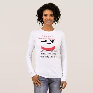 Camiseta Manga Longa Visitante do smiley face do templo de Mormon