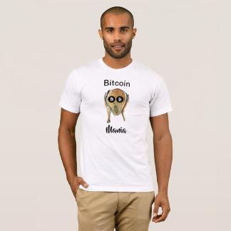 Camiseta Mania de Bitcoin - o GRITAR! com os olhos pretos