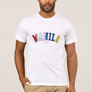 Camiseta Manila em cores da bandeira nacional de Filipinas