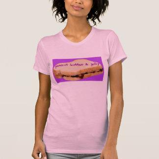 Camiseta MANTEIGA de AMENDOIM bonito das mulheres do