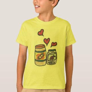 Camiseta Manteiga de amendoim do miúdo engraçado e t-shirt