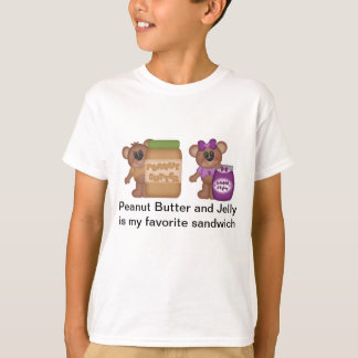 Camiseta Manteiga de amendoim e sanduíche da geléia