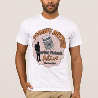 Camiseta Manteiga de amendoim - mantendo nómadas vivos