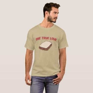 Camiseta Manteiga de amendoim & sanduíche de doce: Um amor