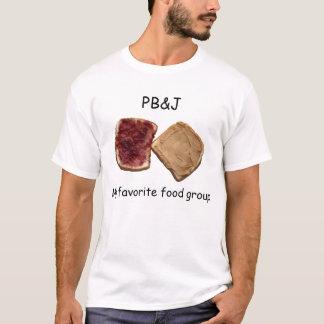 Camiseta Manteiga de amendoim & t-shirt da geléia
