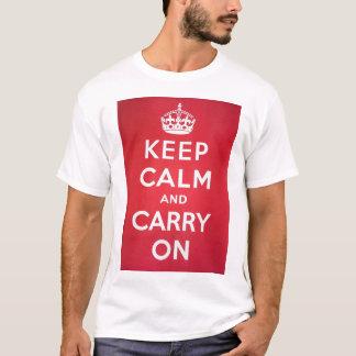 Camiseta mantenha a calma