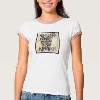Camiseta Mantenha a calma & ame o t-shirt dos elefantes