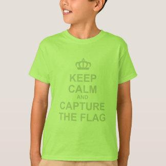 Camiseta Mantenha a calma & capture a bandeira - video