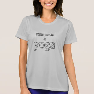 Camiseta Mantenha a calma e a ioga - impressão