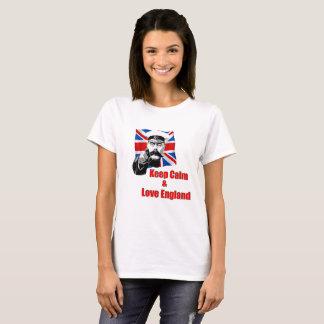 Camiseta Mantenha a calma e ame Inglaterra