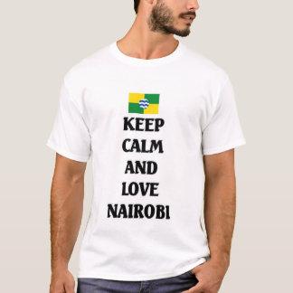 Camiseta Mantenha a calma e ame Nairobi