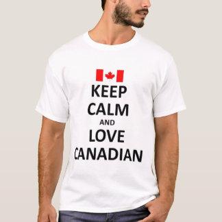 Camiseta Mantenha a calma e ame o canadense